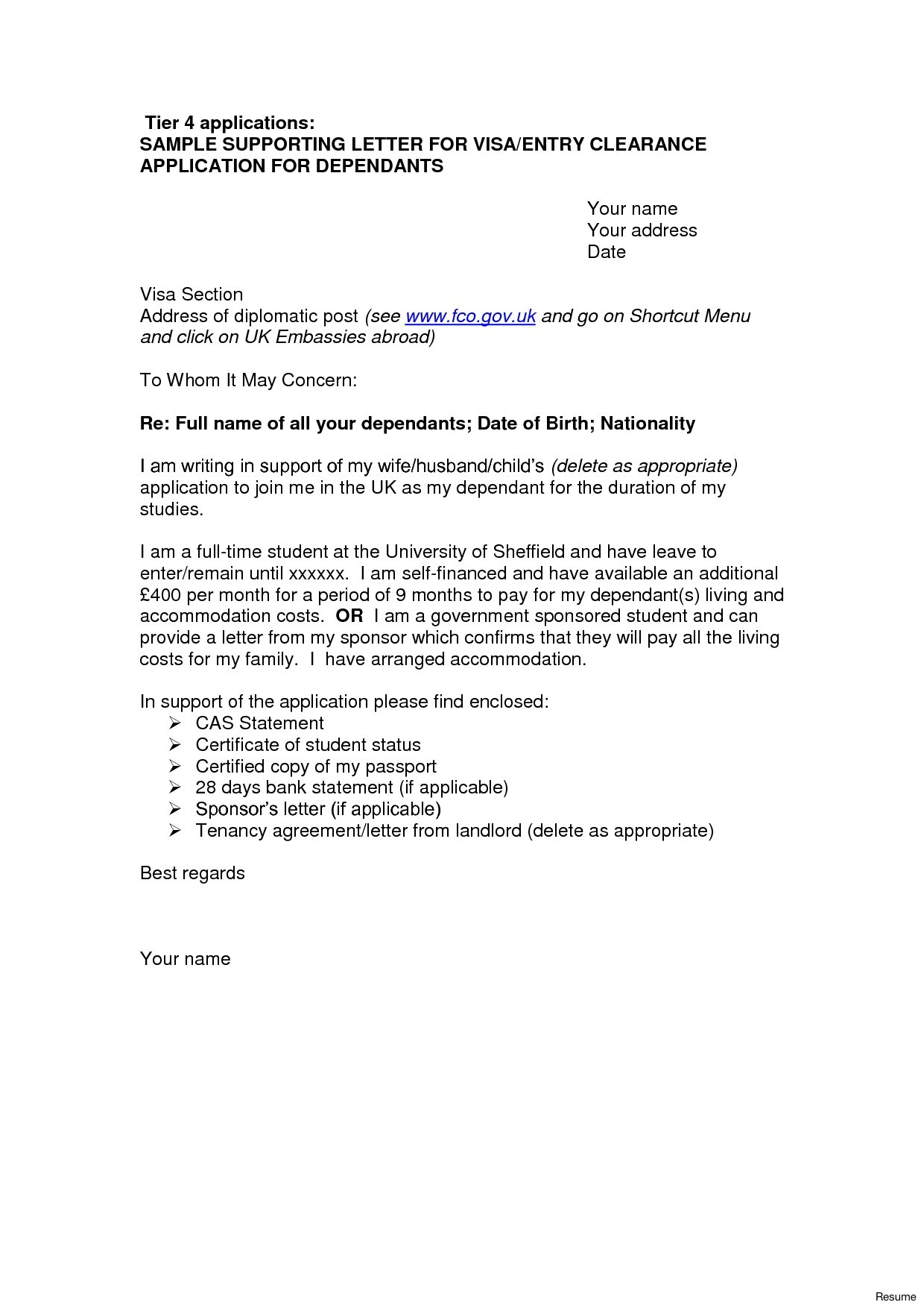 Cover Letter Template Uk 2018