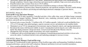 F B Resume Examples