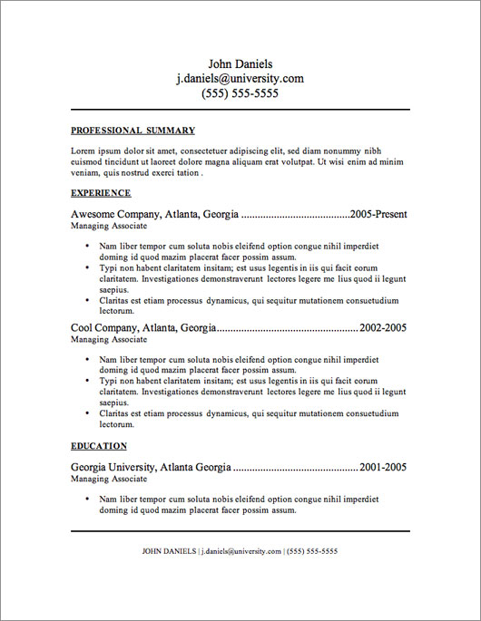 Free Resume Templates Nz - Resume Examples