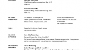 Free Resume Templates Quora