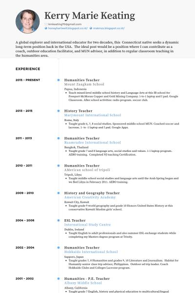 E Teach Cv Template Resume Examples