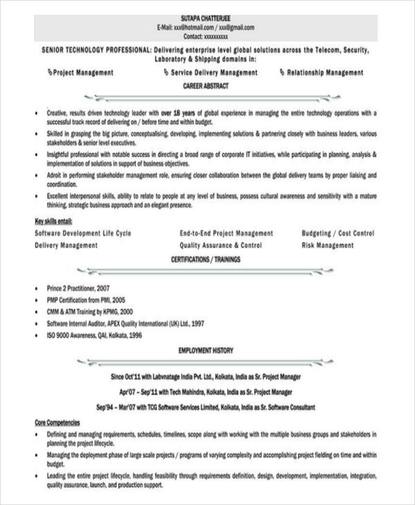 Free Resume Templates India