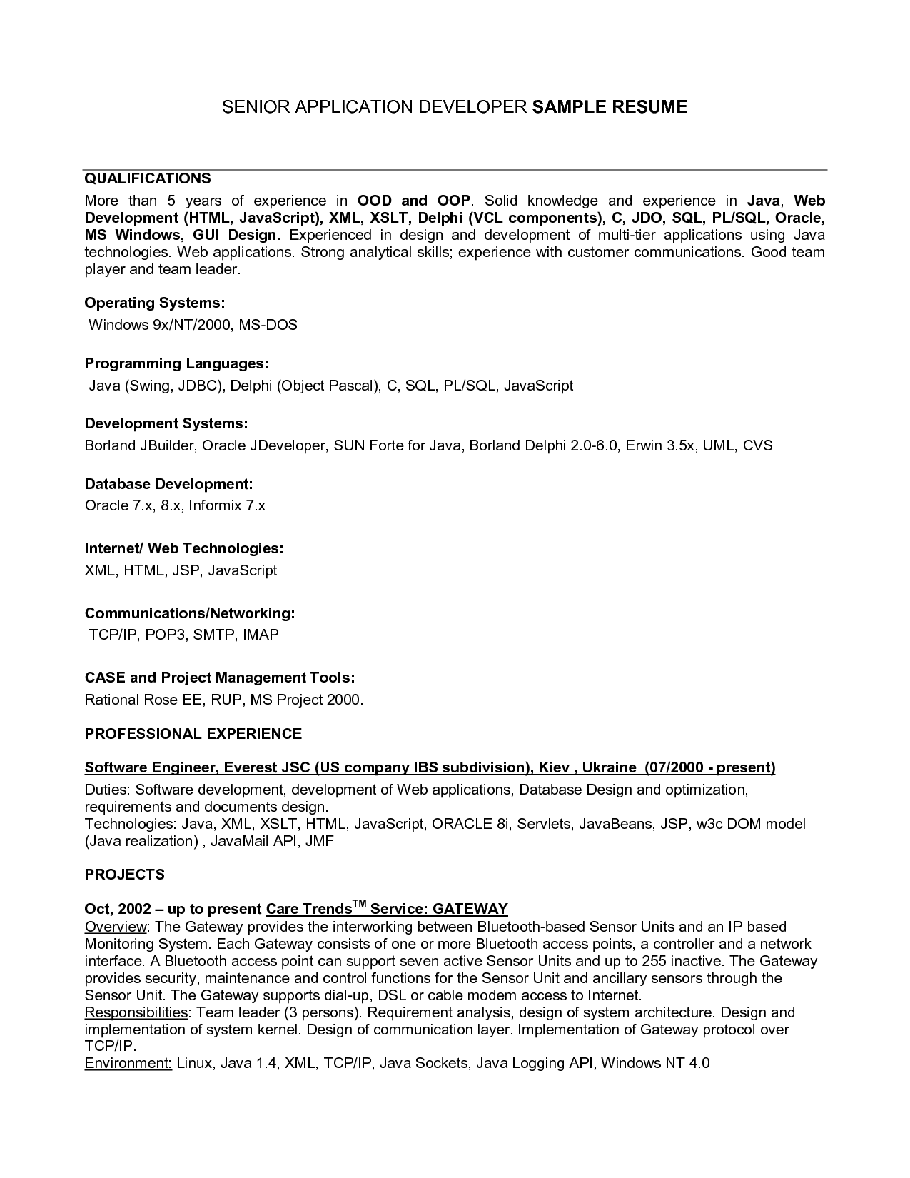 Resume Examples Qualifications - Resume Examples
