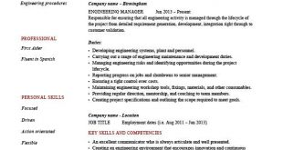 Resume Examples Engineering Manager