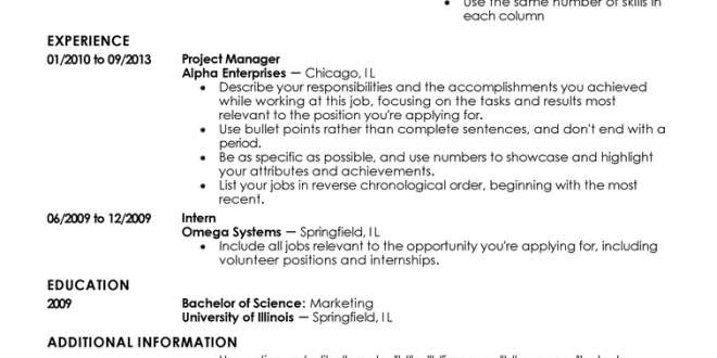 Resume Examples Entry Level