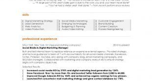 Resume Examples Digital Marketing