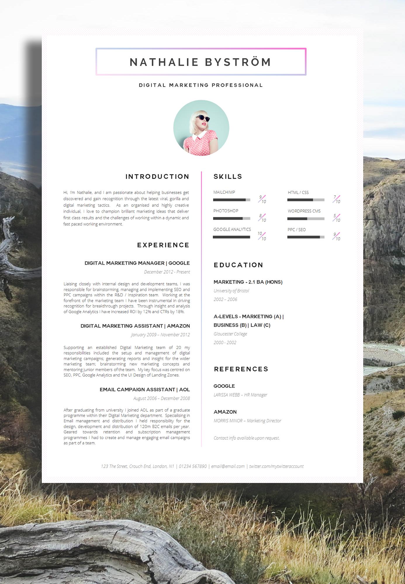resume examples creative