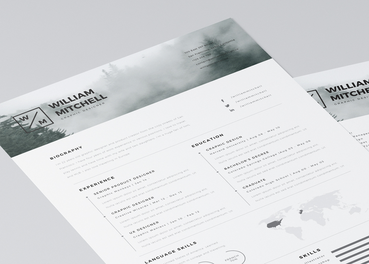 Free Resume Templates Illustrator