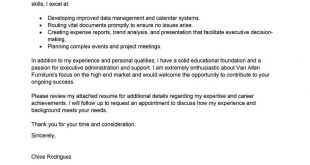 Cover Letter Template Executive Assistant