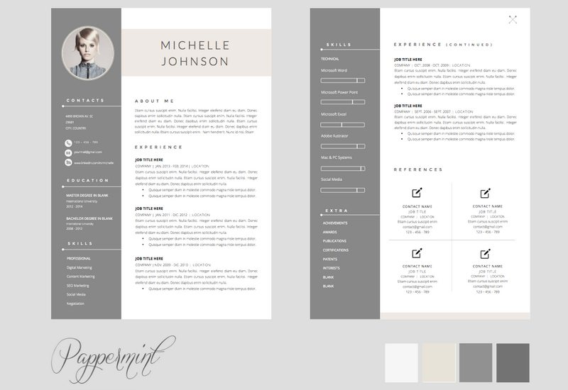 Cv Template For Pages - Resume Examples