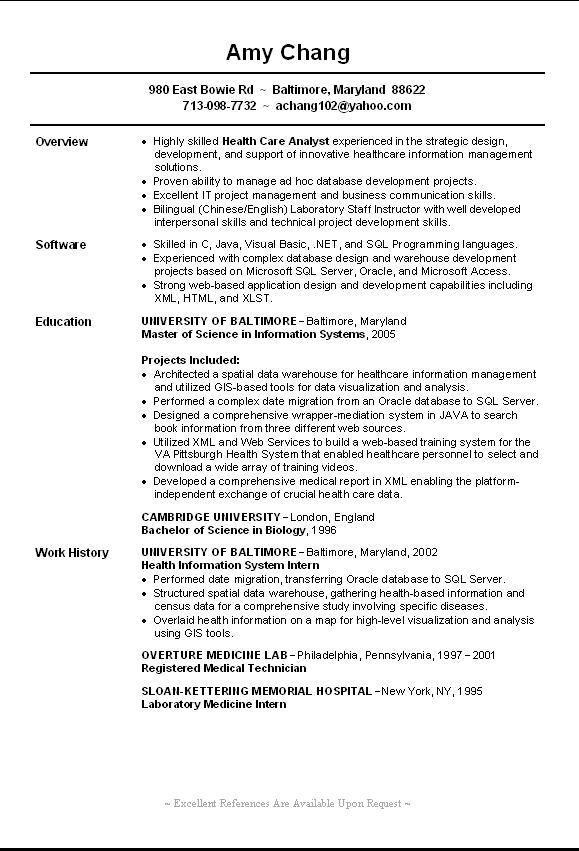 Free Resume Templates Entry Level