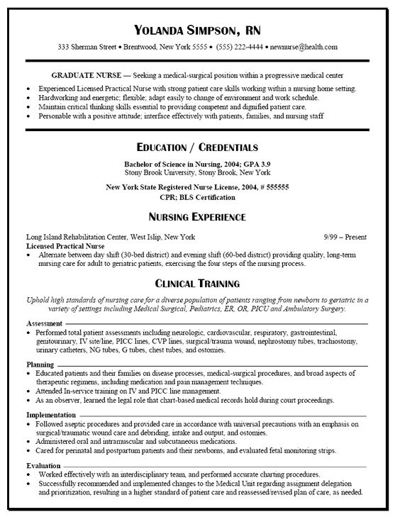 Resume Examples Lpn - Resume Examples