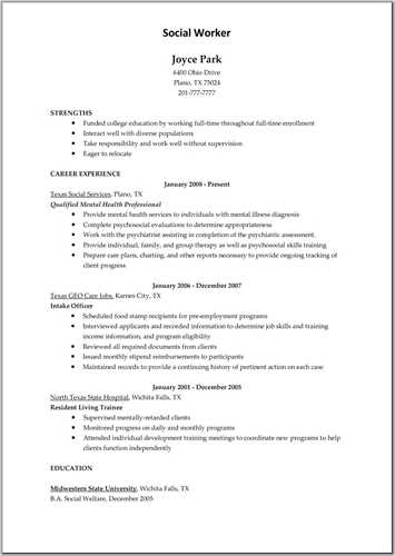Resume Examples For Older Workers