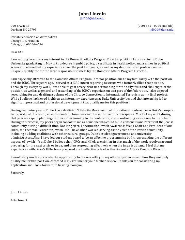 Cover Letter Template Non Profit