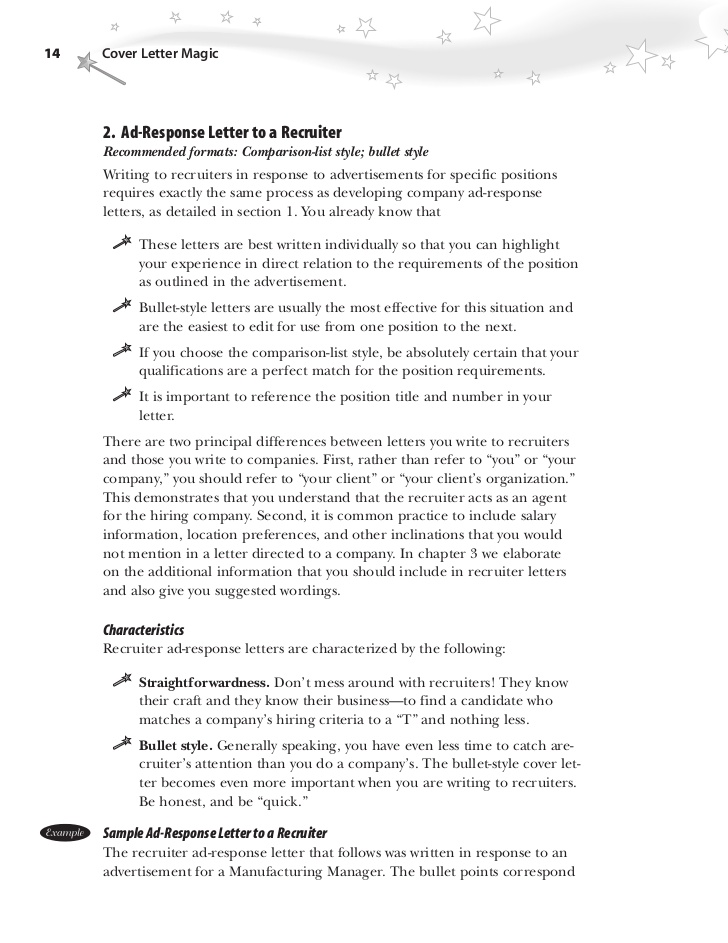 Cover Letter Template Bullet Points