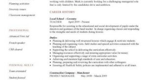 Cv Template Education