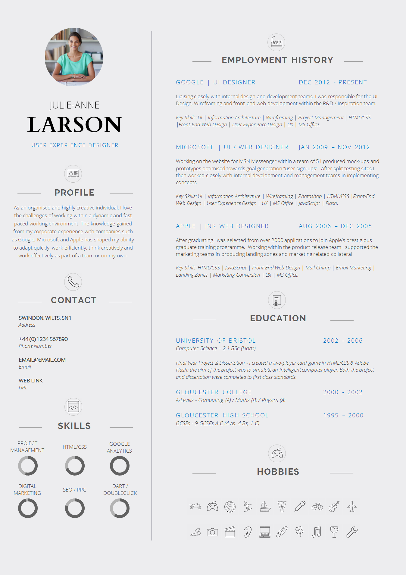 Cv Template Layout