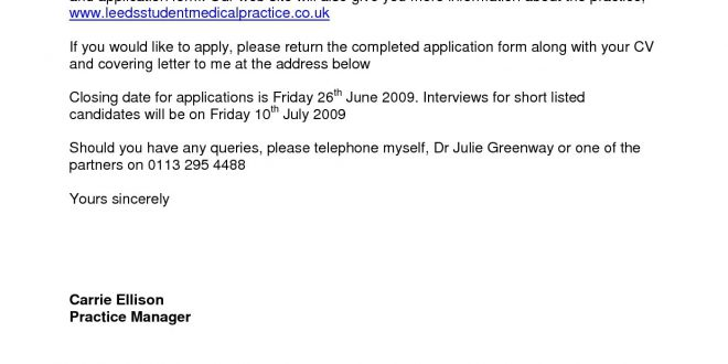 Email Cover Letter Template Uk