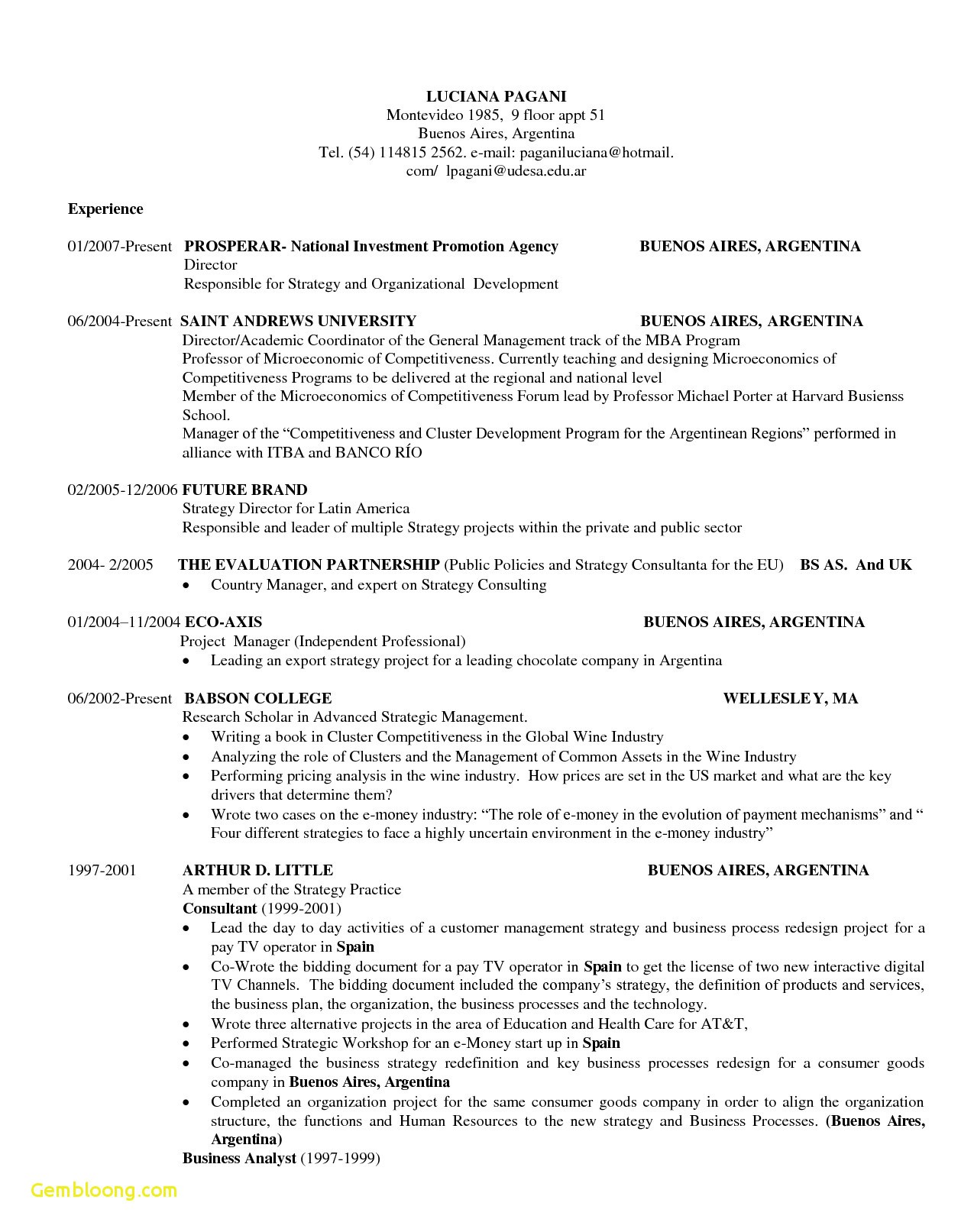 Cv Template Harvard Resume Examples