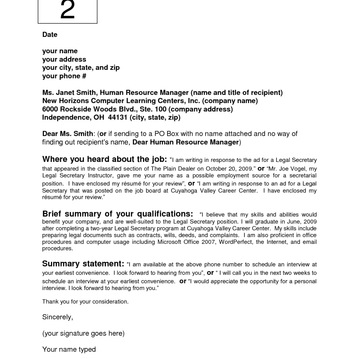 cover letter template no recipient name