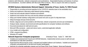 Resume Examples 10 Years Experience