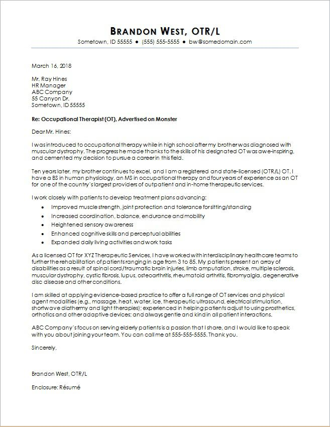 Cover Letter Template The Balance
