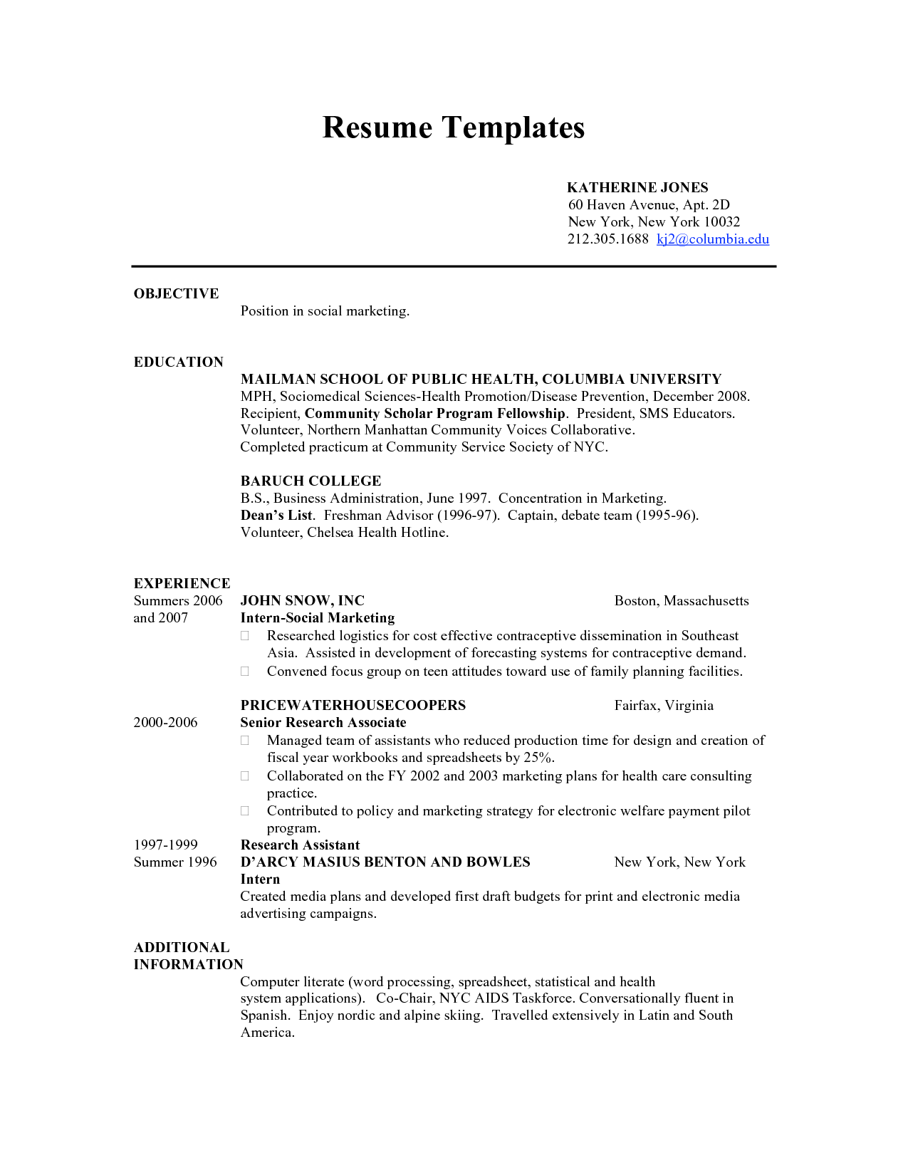 Resume Examples For 19 Year Old