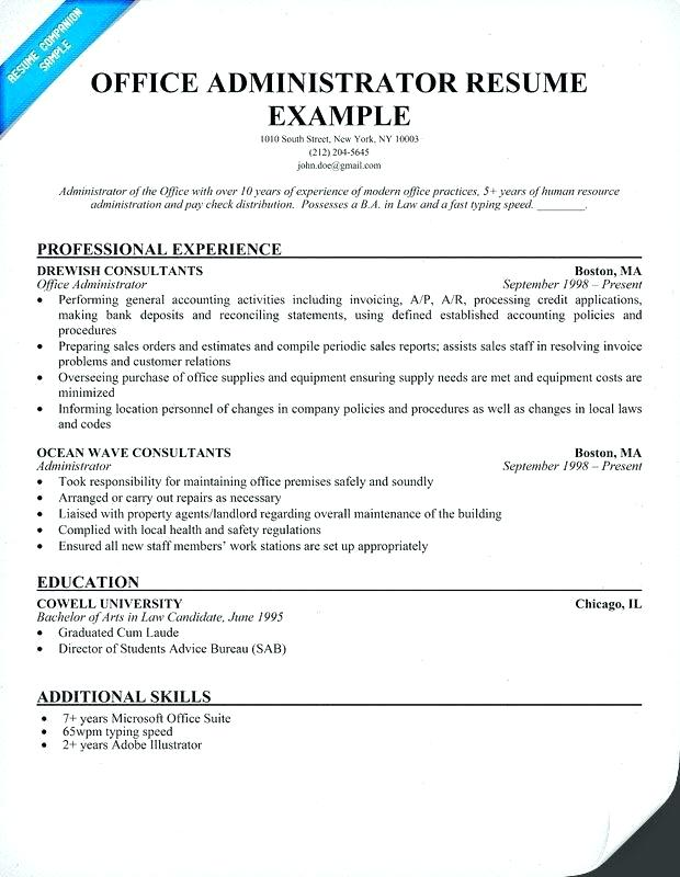 Free Resume Templates For Office Jobs