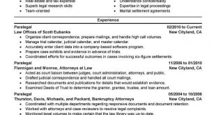 Resume Examples Paralegal