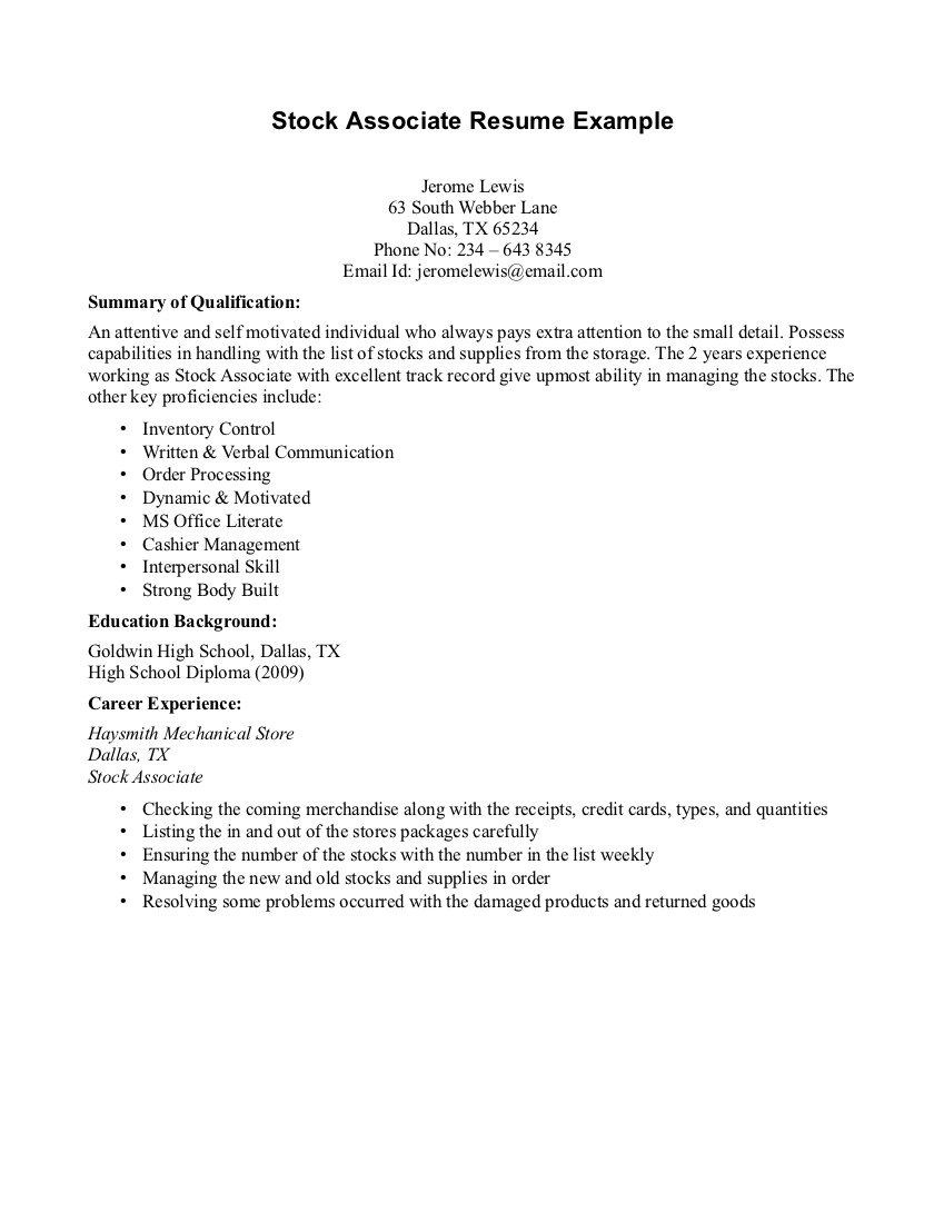 Free Resume Templates No Job Experience Resume Examples