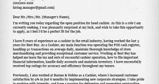 Cover Letter Template Retail