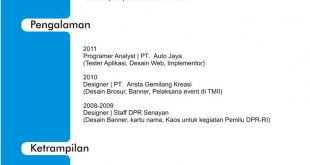 Cv Template Bahasa Indonesia