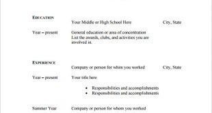 Free Resume Templates Blank