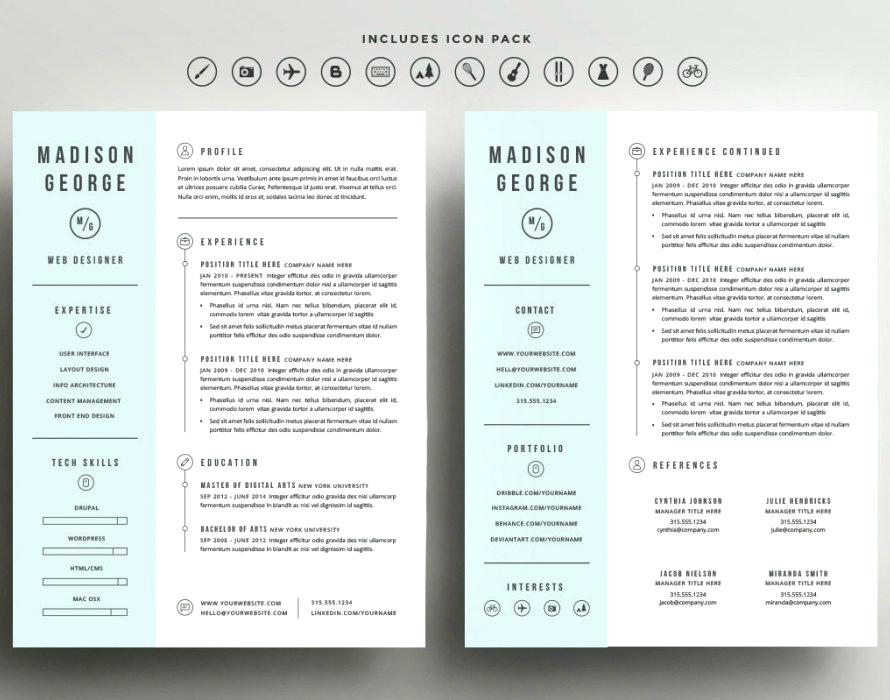 free 2 column resume templates