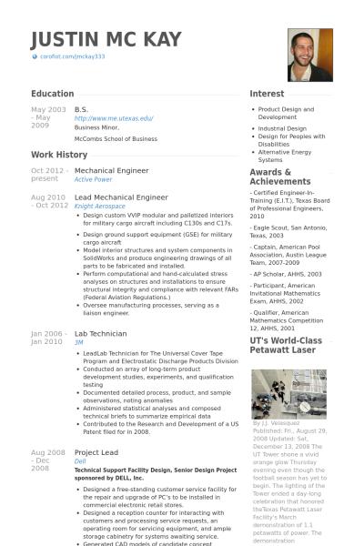 Resume Examples Mechanical Engineer Resume Examples