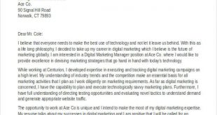 Cover Letter Template Digital Marketing