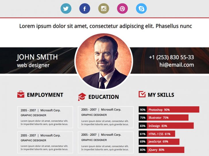 Websites With Free Resume Templates
