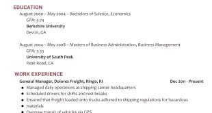Resume Examples 2018 Skills