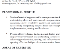 Resume Examples Byu