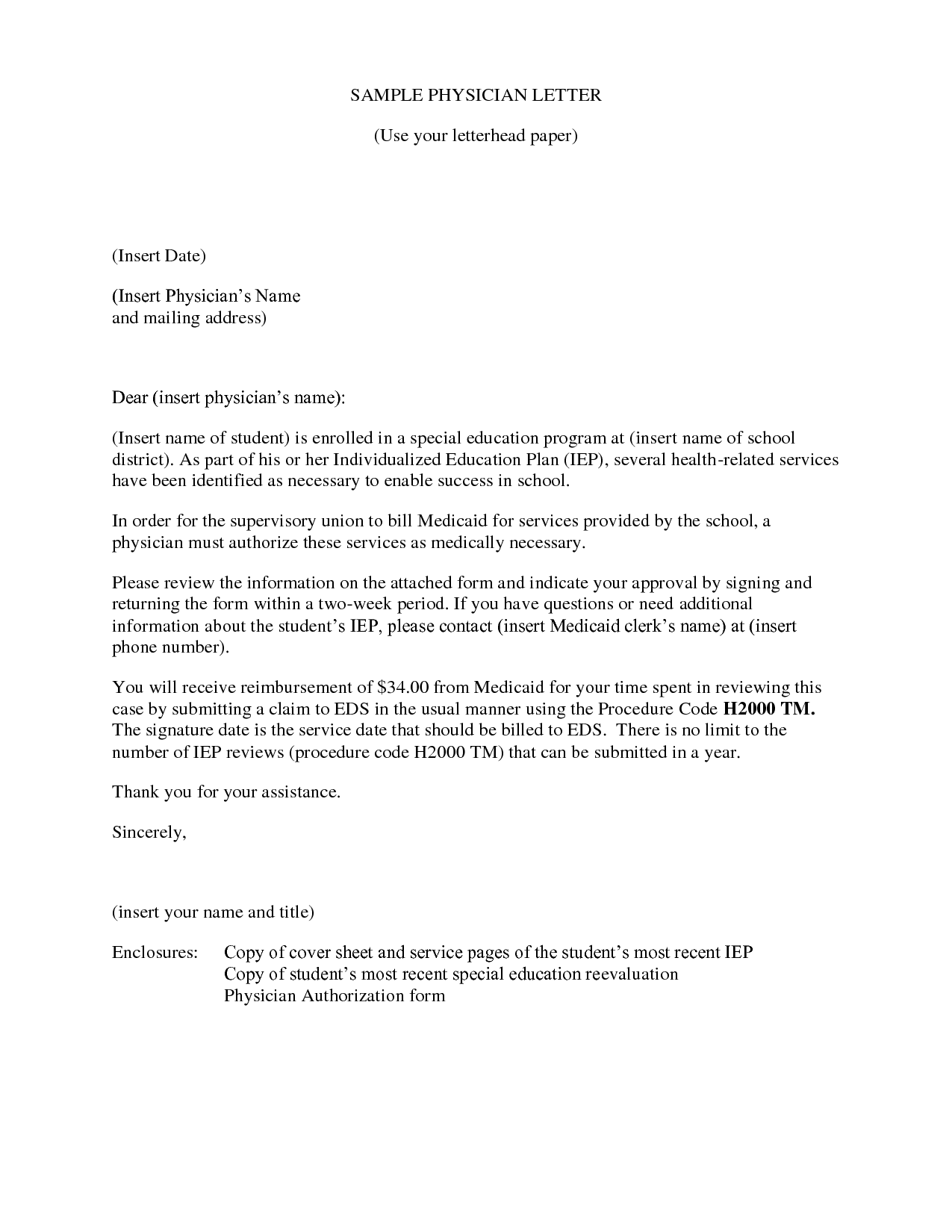 Cover Letter Template Physician Assistant
