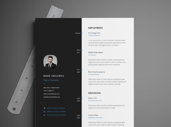 Free Resume Templates Vector