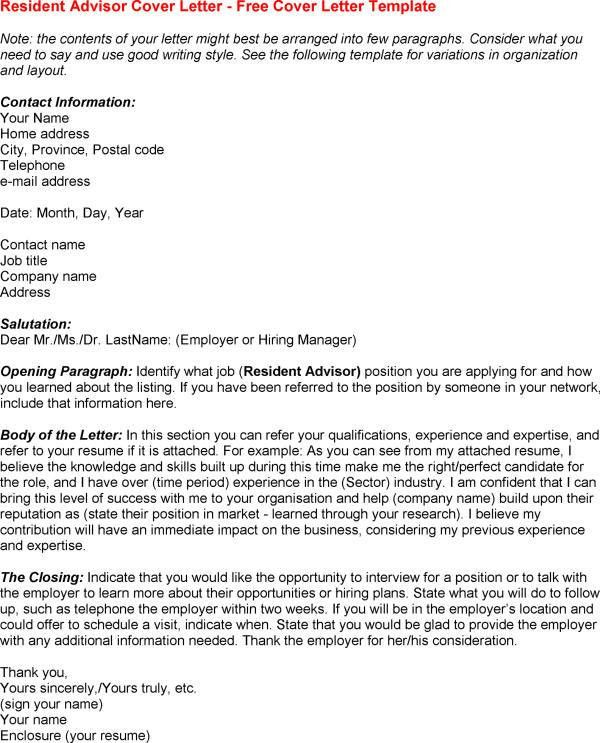 Cover Letter Template Variation - Resume Examples