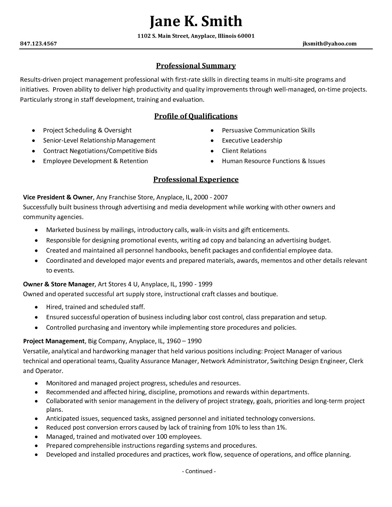 resume examples of leadership skills