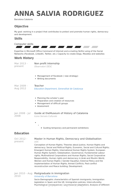 resume examples nonprofit
