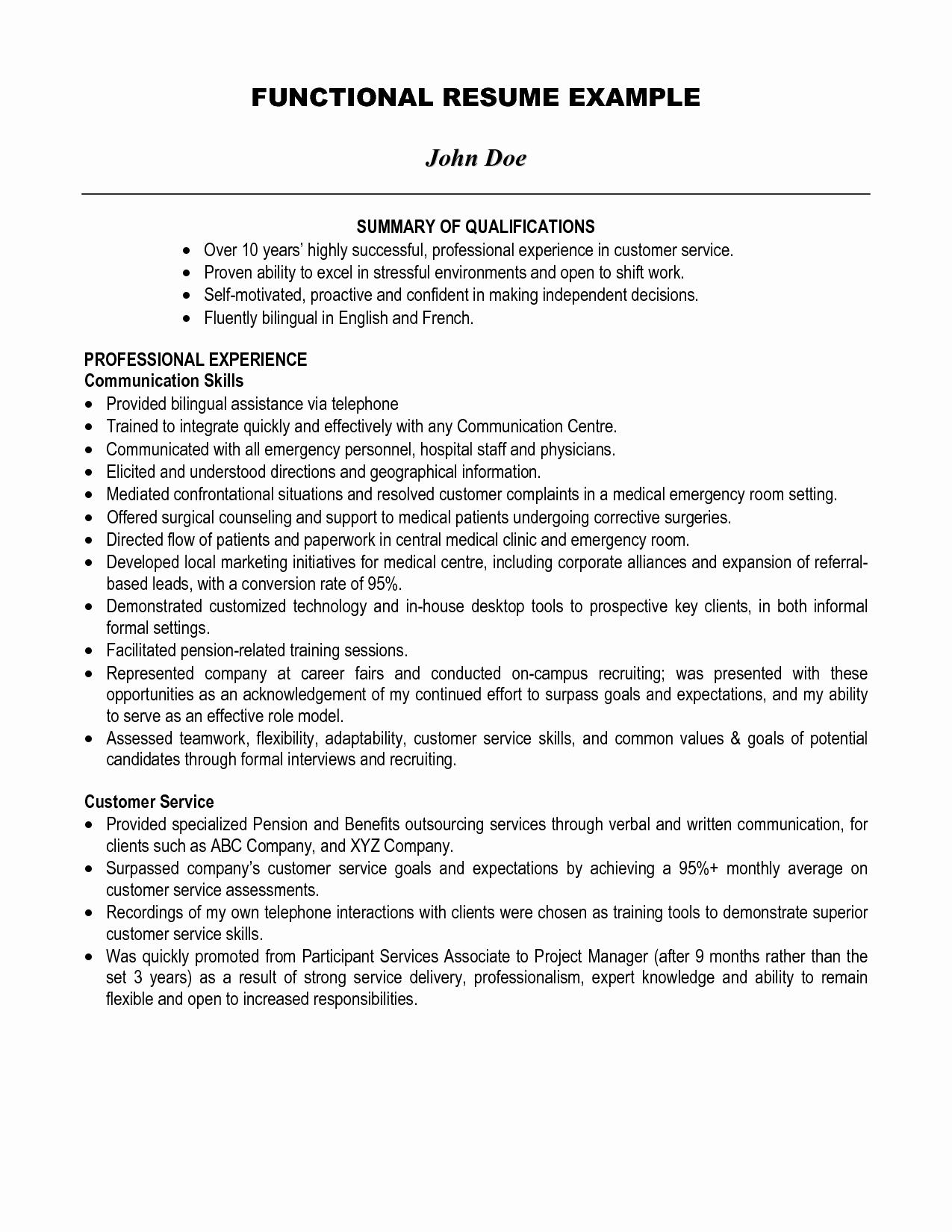 Resume Examples Professional Summary