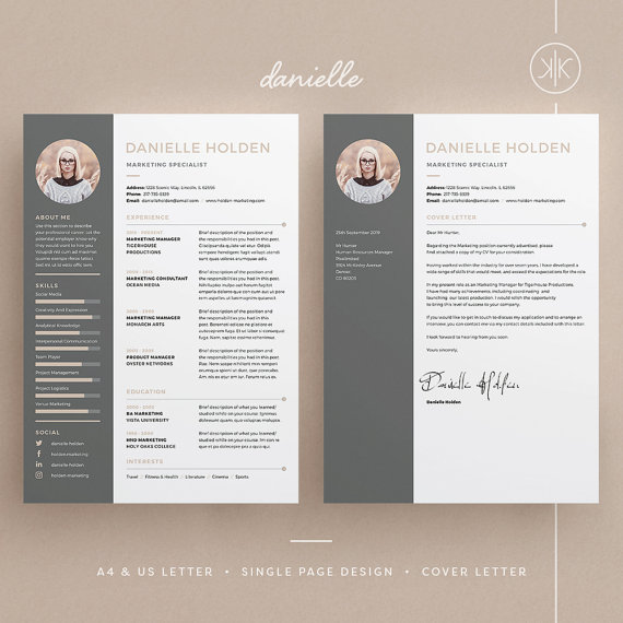 Resume Template Indesign Cover Letter Templates For Word