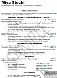 Resume Examples University Student