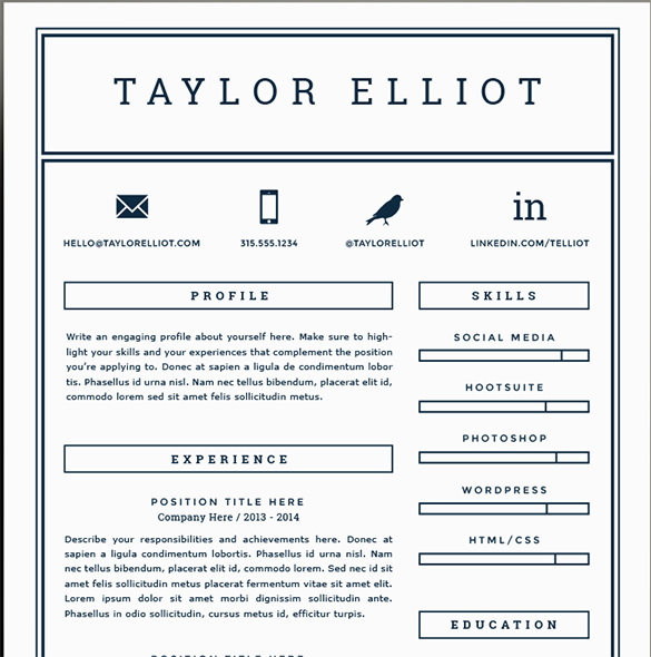 P G Cv Template - Resume Examples