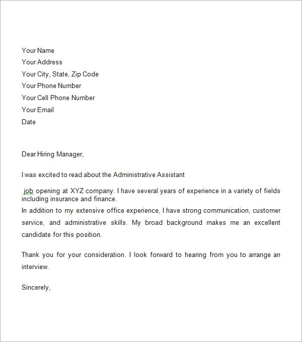 Cover Letter Template Business - Resume Examples