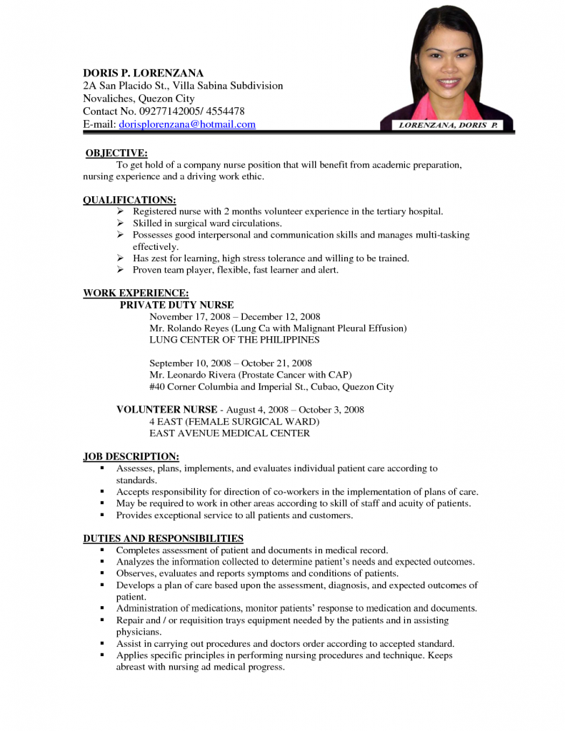 Resume Examples Job Application